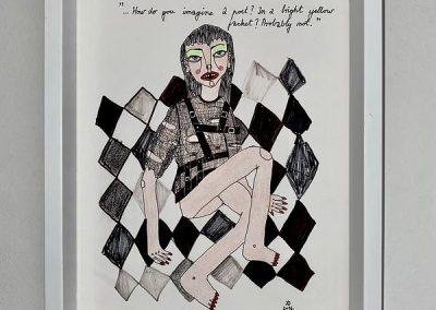 Duje Kodžoman, Poet, 23x32cm, kombinirana tehnika
