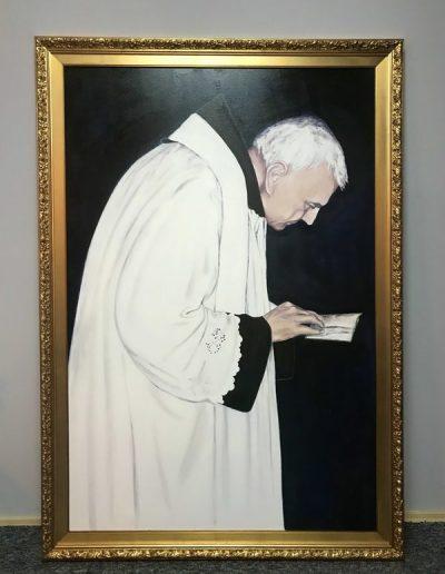 Silvija Sunara - Dobri otac Ante Antić, akril na platnu za svetište Gospe Lurdske u Zagrebu