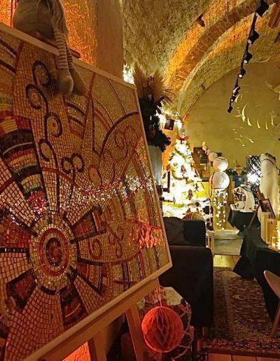 Veće od sreće, mozaik (božićna online izložba u Azimutu 2020.)